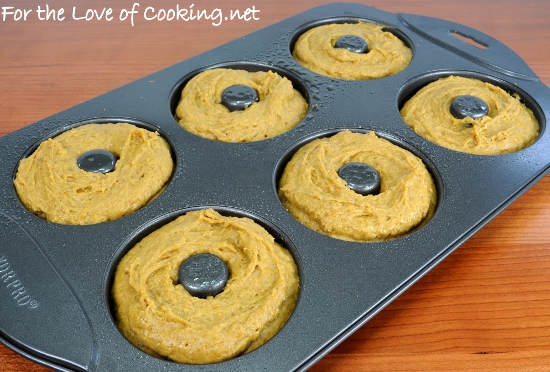 Baked Pumpkin Donuts with Maple-Cinnamon Glaze