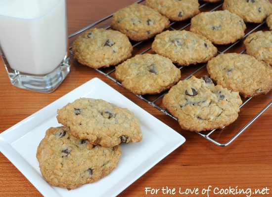 Granola Cookies with Chocolate Chips & Coconut | For the Love of ...