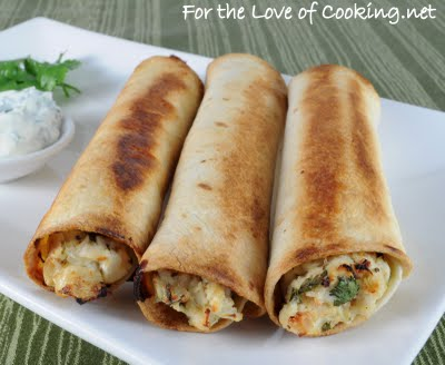 Black Bean, Green Chile And Sharp Cheddar Baked Flautas Recipe ...