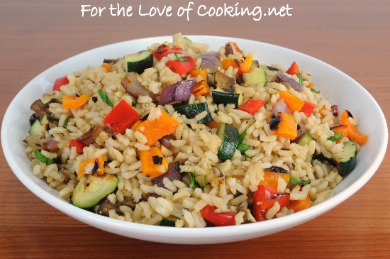 Brown Rice with Grilled Vegetables – Epic Food Recipes