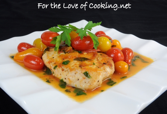 Chicken Breasts with Tomato Herb Pan Sauce | For the Love of Cooking