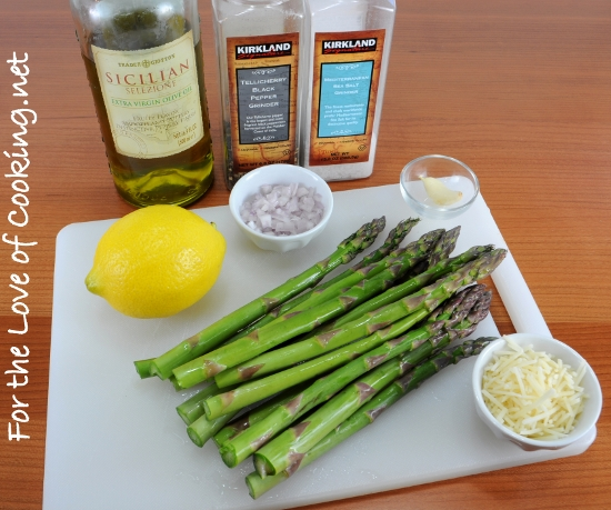Pan Grilled Asparagus with Lemon Shallot Vinaigrette