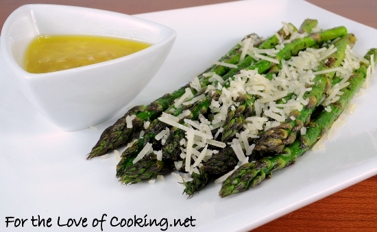 Pan Grilled Asparagus with Lemon Shallot Vinaigrette | For the Love of ...