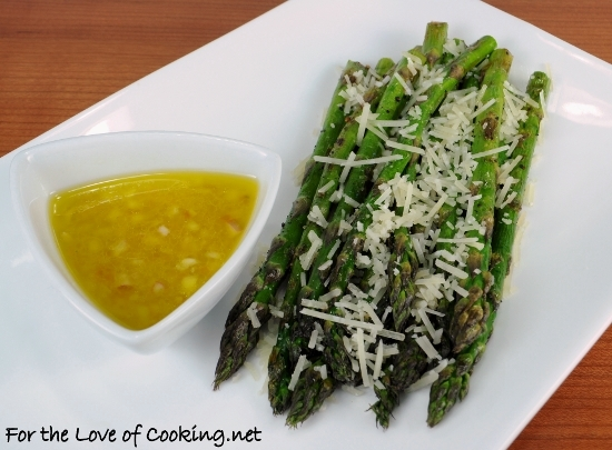 Pan Grilled Asparagus with Lemon Shallot Vinaigrette