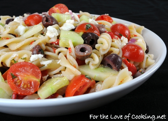 Mediterranean Pasta Salad | For the Love of Cooking