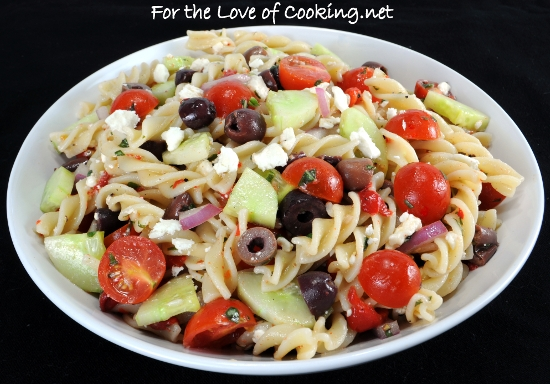 Mediterranean Pasta Salad mediterranean pasta salad for the love of ...