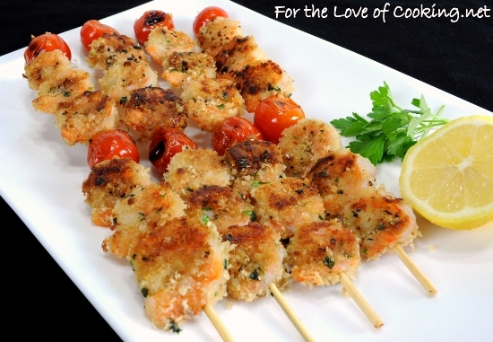 Mediterranean Grilled Shrimp Kebabs | For the Love of Cooking