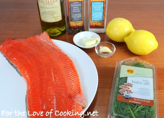 Salmon with Garlic, Lemon, and Dill | For the Love of Cooking