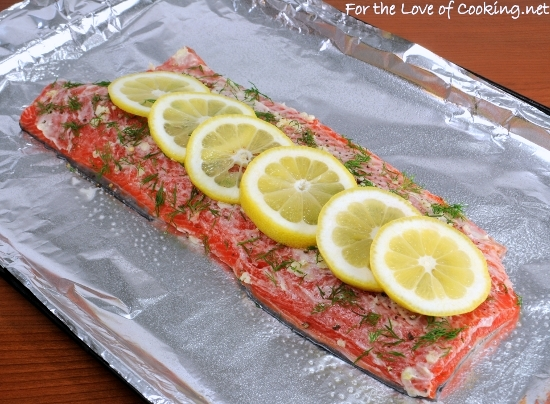 Salmon With Garlic, Lemon, And Dill Recipe — Dishmaps