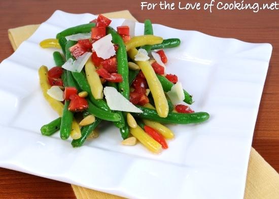 Green Bean,Yellow Bean, and Tomato Salad with White Balsamic Vinaigrette