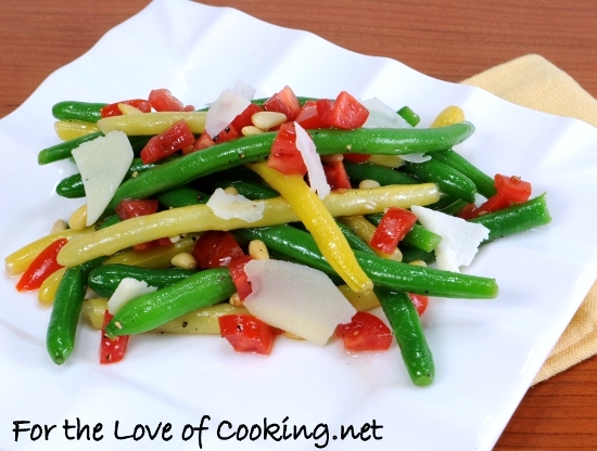 Green Bean,Yellow Bean, and Tomato Salad with White Balsamic Vinaigrette