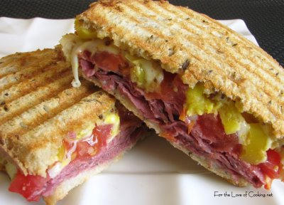Pastrami, Peppers, Swiss and Tomato on Rye
