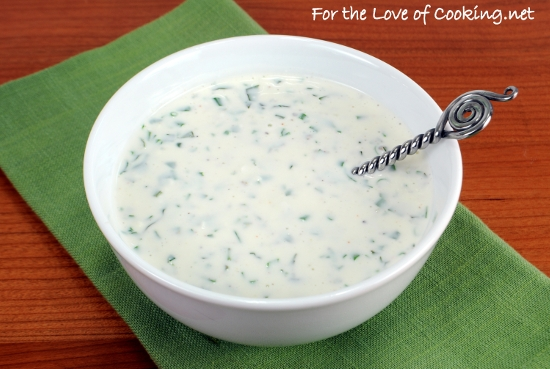 Creamy Buttermilk Ranch Dressing | For the Love of Cooking