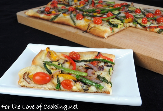 Grilled Vegetable and Smoked Fontina Pizza | For the Love ...