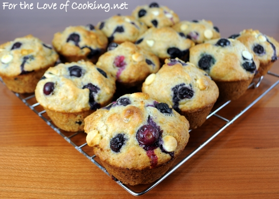 Blueberry and White Chocolate Muffins