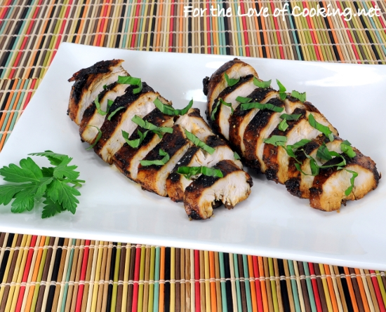 Balsamic, Garlic, and Basil Marinated Chicken Breasts