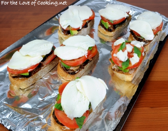 Chicken and Avocado Caprese Open Faced Sandwich