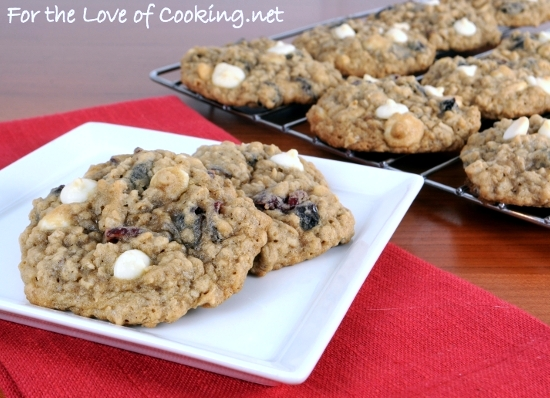 Blueberry and Cherry Oatmeal Cookies with White Chocolate Chips | For ...
