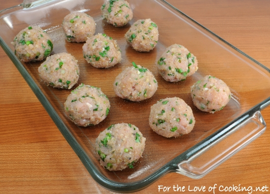 Asian Turkey Meatballs with a Lime Sesame Dipping Sauce