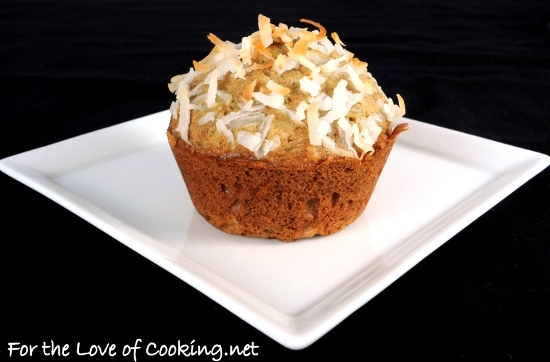 Coconut Zucchini Muffins | For the Love of Cooking