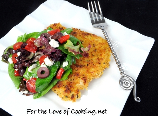 Greek Chicken Milanese For The Love Of Cooking