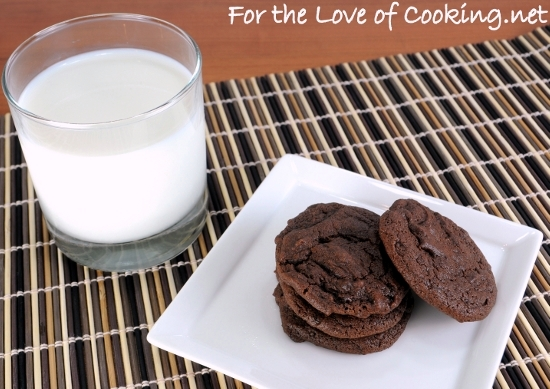Cocoa Fudge Cookies | For the Love of Cooking