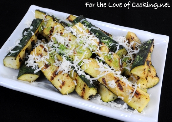 Zucchini with Lime and Cotija Cheese