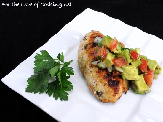 Cilantro-Lime Chicken with Avocado Salsa | For the Love of Cooking