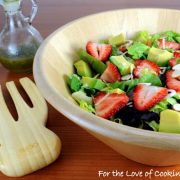 Strawberry and Avocado Salad with Honey Maple Poppy Seed Vinaigrette