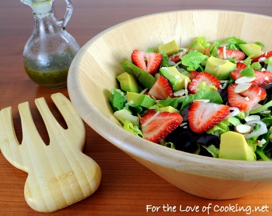 Strawberry and Avocado Salad with Honey Maple Poppy Seed ...