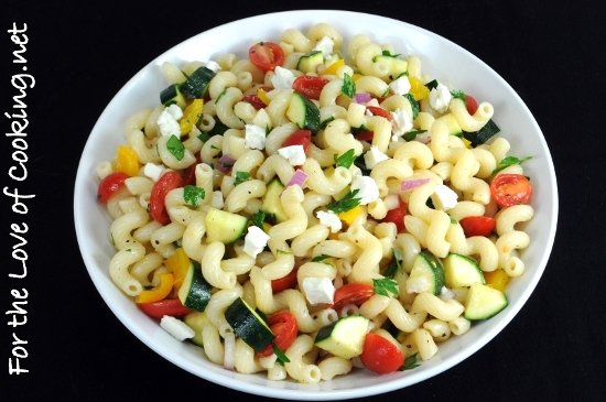 Pasta Salad with Tomatoes, Zucchini, and Feta | For the Love of ...