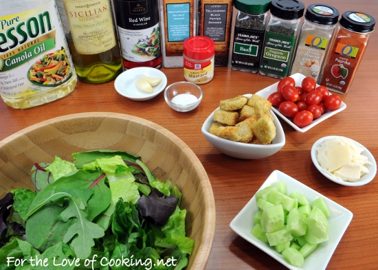 Mixed Green Salad with an Italian Vinaigrette