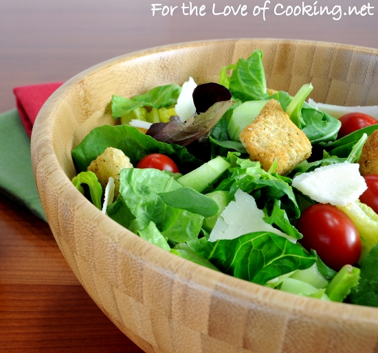 Mixed Green Salad With An Italian Vinaigrette Recipes — Dishmaps