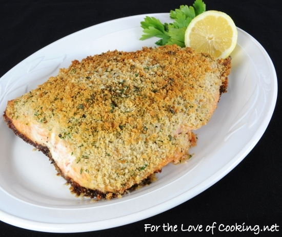 Dijon and Panko-Crusted Salmon