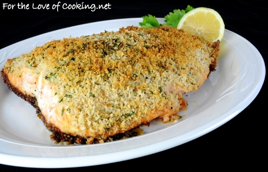 Dijon and Panko-Crusted Salmon | For the Love of Cooking