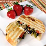 Tapenade, Mozzarella, and Tomato Panini