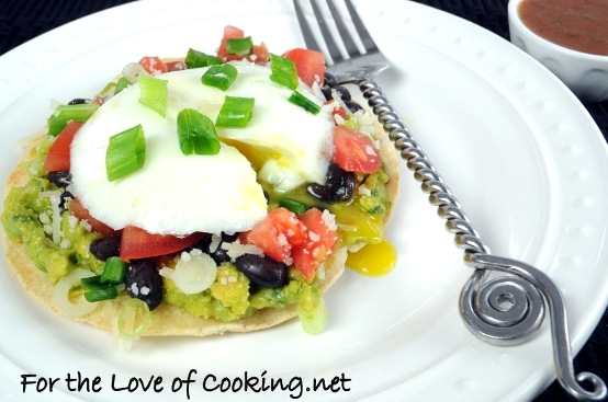 top mexican breakfast tostadas mexican tostada topped with a mexican ...