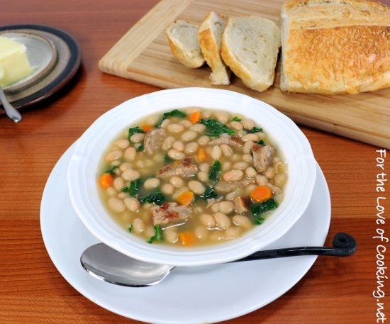 of Cooking » White Bean Soup with Kale and Turkey Italian Sausage