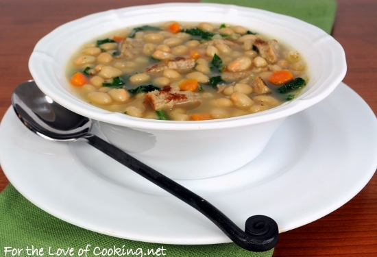 White Bean Soup with Kale and Turkey Italian Sausage | For ...