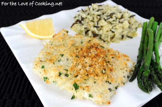 Parmesan Panko Crusted Halibut
