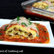 Turkey Italian Sausage and Ricotta Lasagna Roll Ups