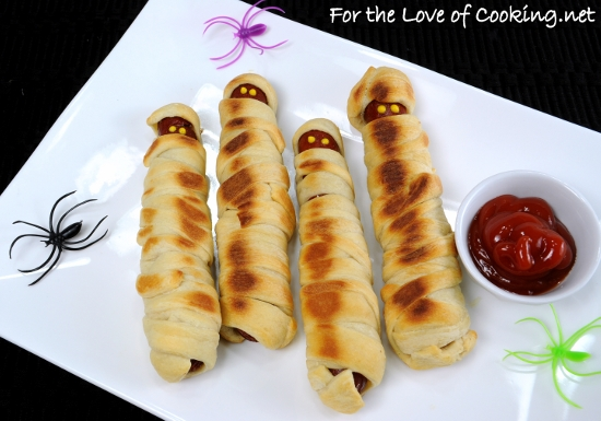 Halloween Fun ~ Hot Dog Mummies | For the Love of Cooking