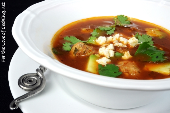 Mexican Meatball Soup | For the Love of Cooking