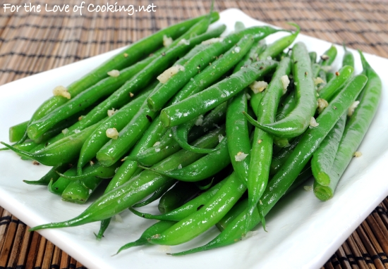 Garlicky green beans for the love of cooking for Easy thanksgiving green bean recipes