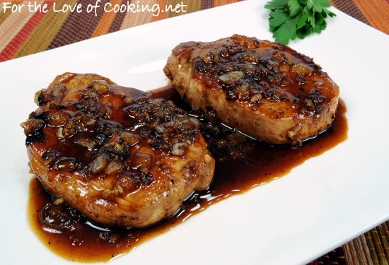 Apricot-Soy Pork Chops | For the Love of Cooking