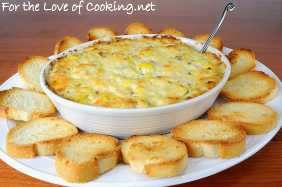 Crab and Artichoke Dip | For the Love of Cooking
