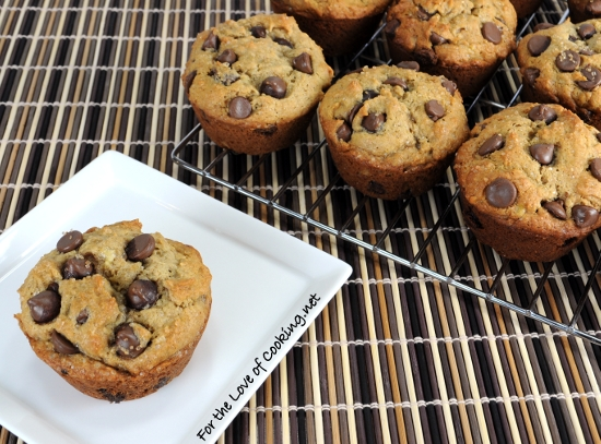 Banana Peanut Butter Chocolate Chip Muffins