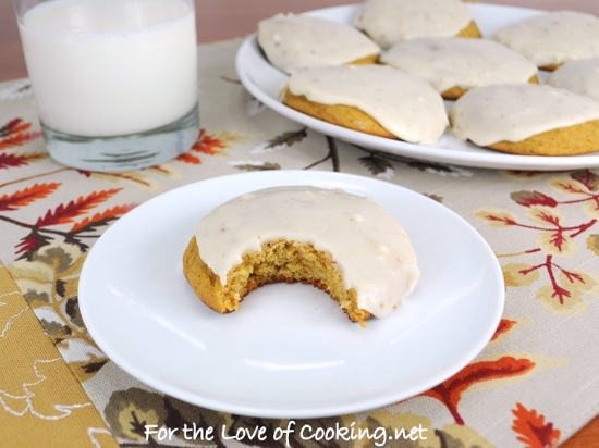 Pumpkin Cookies with Browned Butter Icing | For the Love ...