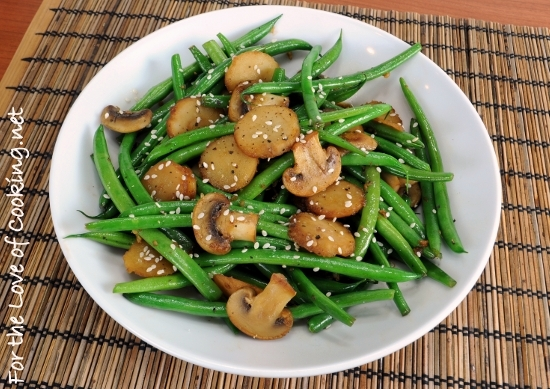 Sesame Green Beans with Mushrooms and Chestnuts | For the Love of ...