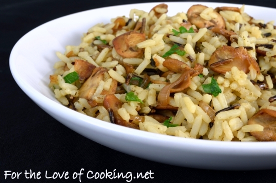 Long Grain and Wild Rice with Mushrooms and Shallots